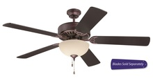 "Craftmade C202OB - Pro Builder 202 52"" Ceiling Fan with Light in Oiled Bronze (Blades Sold Separately)"