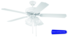 "Craftmade C203W - Pro Builder 203 52"" Ceiling Fan with Light in White (Blades Sold Separately)"