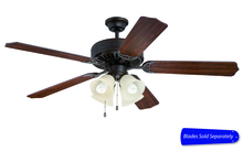 "Craftmade C204AG - Pro Builder 204 52"" Ceiling Fan with Light in Aged Bronze Textured (Blades Sold Separately)"