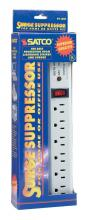 Satco Products Inc. 91/221 - 4' Cord 6 Outlet Superior Surge Strip, 540 Joules 15A-120V, 1800W Indoor Use Only