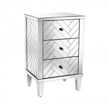 Sterling Industries 1114-212 - Chatelet 3-Drawer Chest In Clear Mirror Finish