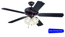 "Ellington Fan E204OB - Pro Builder 204 52"" Ceiling Fan with Light in Oiled Bronze (Blades Sold Separately)"