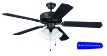 "Ellington Fan E205FB - Pro Builder 205 52"" Ceiling Fan with Light in Flat Black (Blades Sold Separately)"