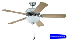"Ellington Fan E207BN - Pro Builder 207 52"" Ceiling Fan with Light in Brushed Satin Nickel (Blades Sold Separately)"
