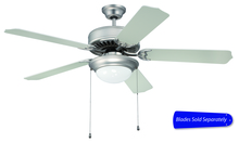 "Ellington Fan E209BN - Pro Builder 209 52"" Ceiling Fan with Light in Brushed Satin Nickel (Blades Sold Separately)"