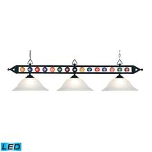 ELK Lighting 190-1-BK-G1-LED - Designer Classics 3 Light LED Billiard In Matte