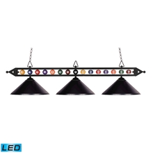 ELK Lighting 190-1-BK-M-LED - Designer Classics 3 Light LED Billiard In Matte