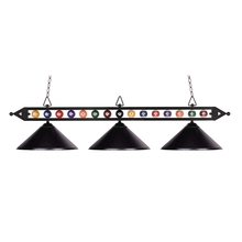 ELK Lighting 190-1-BK-M - Designer Classics 3 Light Billiard In Matte Blac