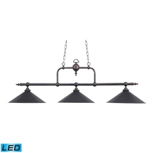 ELK Lighting 191-TB-LED - Designer Classics 3 Light LED Billiard In Tiffan