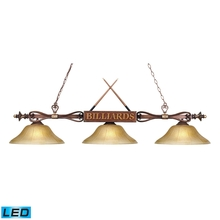 ELK Lighting 194-WD-G6-LED - Designer Classics 3 Light LED Billiard In Wood P