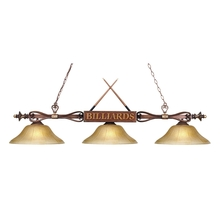 ELK Lighting 194-WD-G6 - Designer Classics 3 Light Billiard In Wood Patin