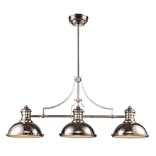 ELK Lighting 66115-3 - Chadwick 3 Light Billiard In Polished Nickel