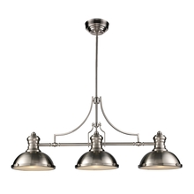 ELK Lighting 66125-3 - Chadwick 3 Light Billiard In Satin Nickel