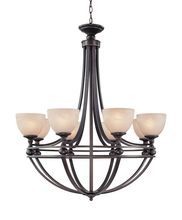 Craftmade 25428-OB - Seymour 8 Light Chandelier in Oiled Bronze