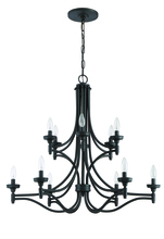 Craftmade 41412-ABZ - Sophia 12 Light Chandelier in Aged Bronze Brushed