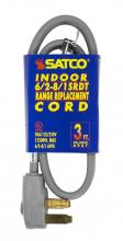 Satco Products Inc. 93/5032 - 3 ft. - 3 Wire 6-2 - 8-1 SRDT Gray Flat 50A/125V-250V 12,500W 12 Indoor Use Only